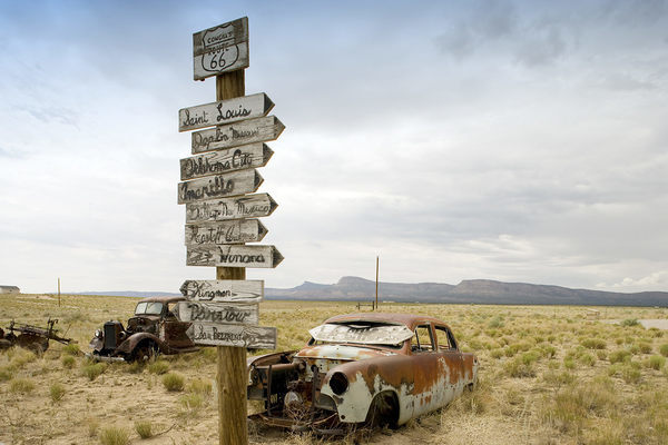 Along the Remains of Route 66, Road Trip Trash Has Become Treasure - Atlas Obscura