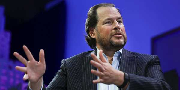 Salesforce co-CEO Marc Benioff says he doesn't use a computer anymore and has been running his business from his iPhone for years