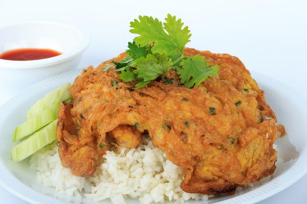 Thaise omelet met rijst