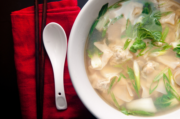 Wonton soep