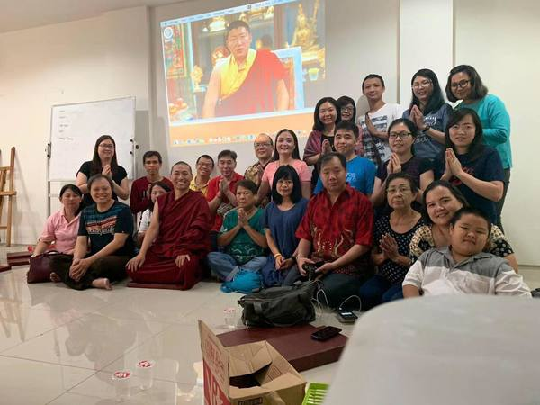 Tulku Migmar Tsering in Indonesia