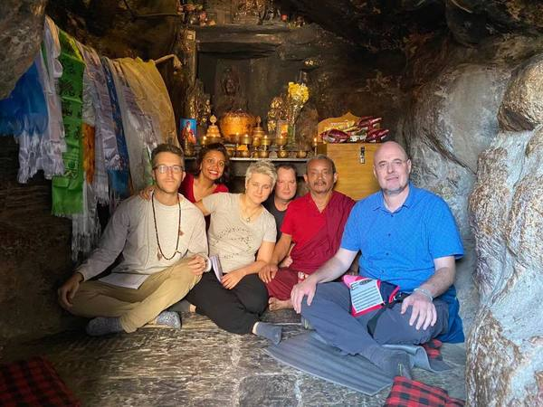 In Asura Cave with Drupla Ngawang Yeshe
