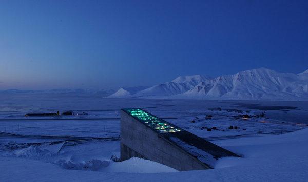 L'entrée de l'Arctic World Archive - Crédit photo : Global Crop Diversity Trust/Flickr