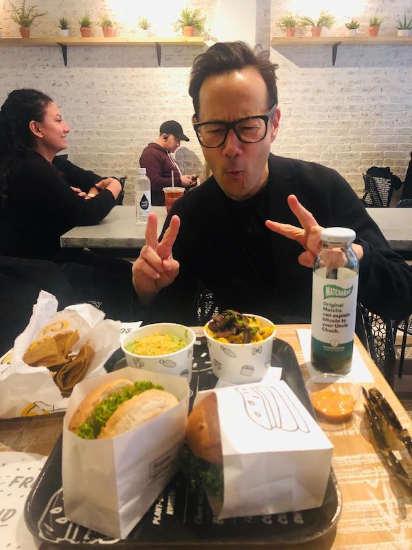 When you discover a vegetarian lifestyle includes eating at amazing vegan places like Veggie Grill and By Chloe even though you are now eating lunch alongside teenage girls. #GuacBurgerFTW