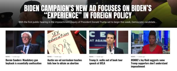 De website van Conservative Edition News
