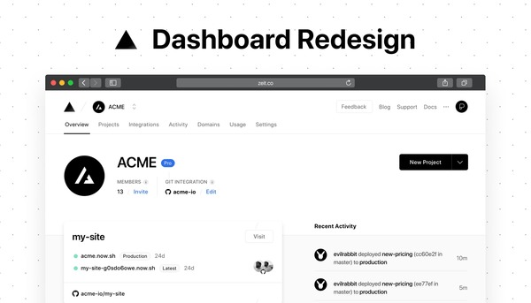Dashboard Redesign - ZEIT