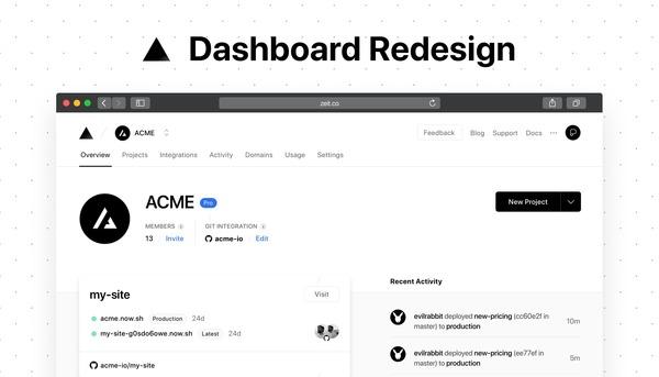Dashboard Redesign - ZEIT