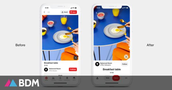 Pinterest lance une nouvelle version de son application sur iOS et Android - BDM