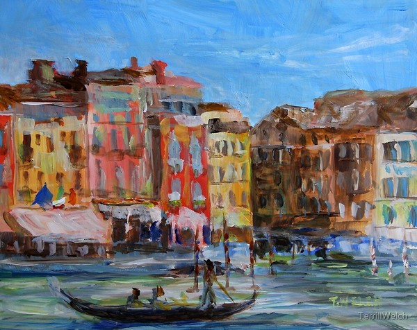 Venezia Canal Grande near Rio by Terrill Welch (decorative prints available)