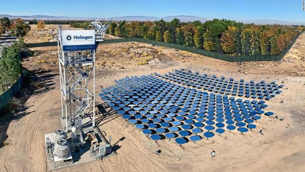 One of Heliogen's concentrated solar power plants.