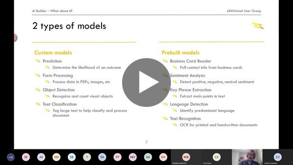 XRMVirtual UG - AI Builder session recording