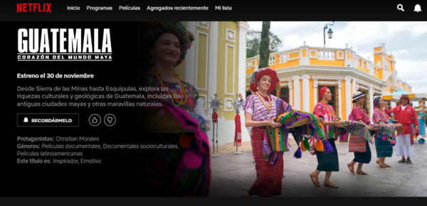 """The documentary """"Guatemala: Corazón del Mundo Maya"""" will premiere on November 30th on Netflix to invite viewers into the cultural and geological wealth of Guatemala."""