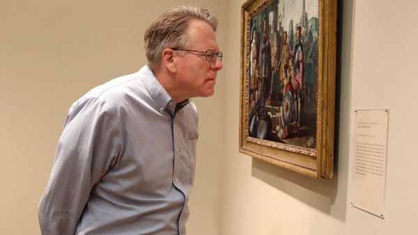 Area Dad Needs More Time With Museum Plaque
