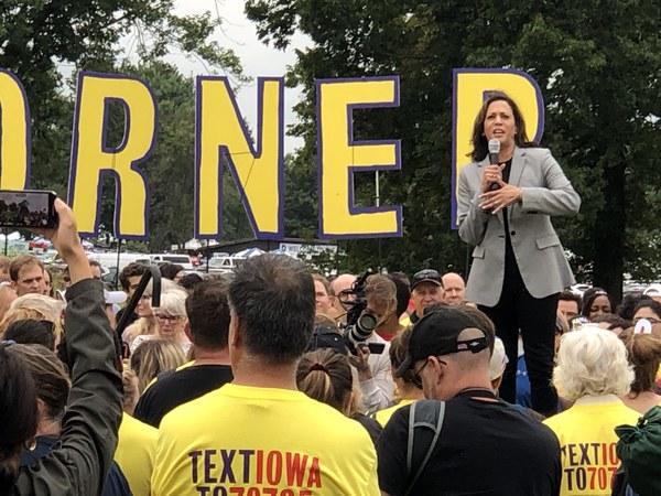 Presidentskandidaat Kamala Harris in Iowa (foto: Arjen van der Horst)