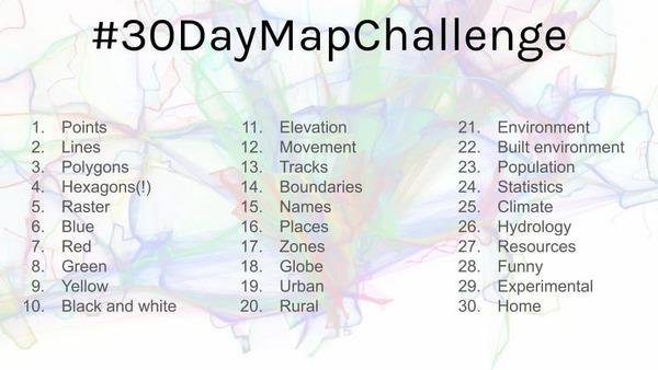 #30DayMapChallenge entries