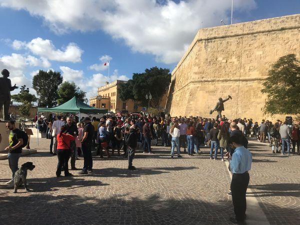 Demonstratie op Malta - Foto Mustafa Marghadi