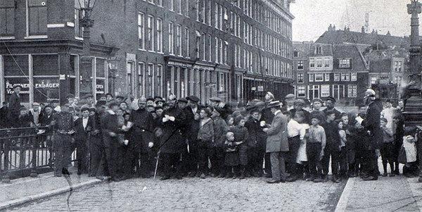 Staking van  zeelieden en bootwerkers in 1911