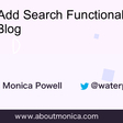How To Add Search Functionality to a Gatsby Blog | monica*dev