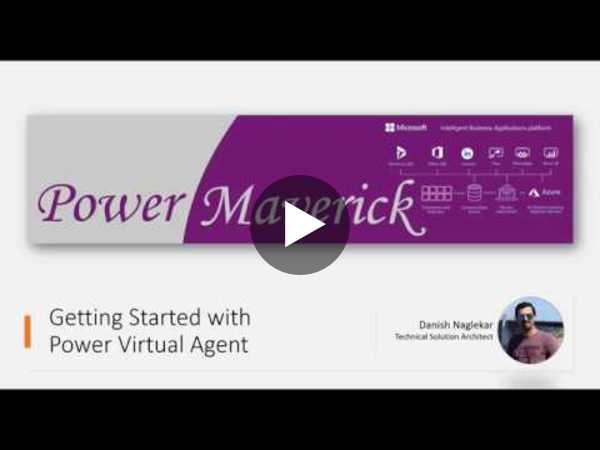 Getting Started with Power Virtual Agent