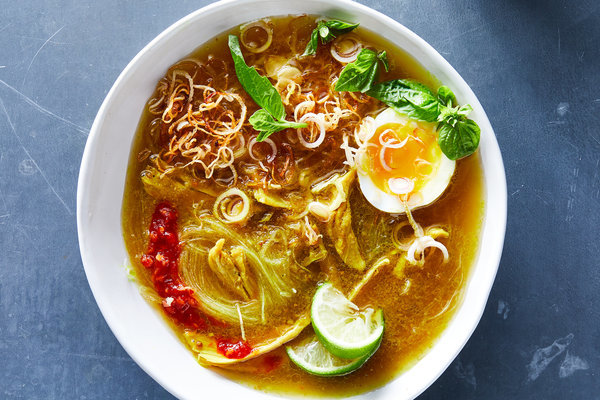Indonesian Chicken Soup With Noodles, Turmeric and Ginger (Soto Ayam) Recipe - NYT Cooking
