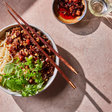 Rice Noodles With Spicy Pork and Herbs Recipe - NYT Cooking