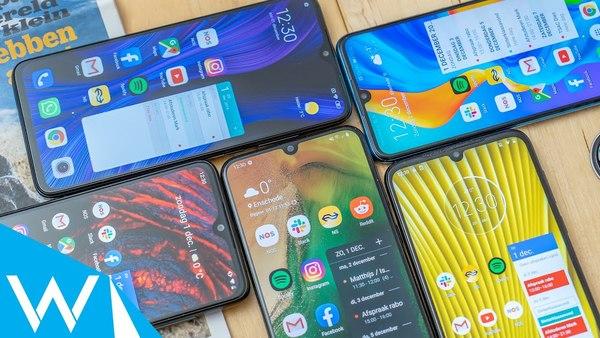 Wat is de beste budgetsmartphone?   Vergelijking Galaxy A50, P30 Lite, Moto G8 Plus en meer!   WANT