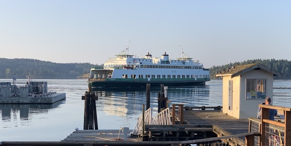 The Tillikum Arrives at Orcas Island