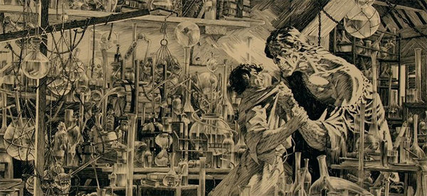 Bernie Wrightson - Original Frankenstein Cover Art