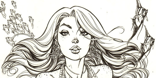 J. Scott Campbell - Mermaid Original Comic Art