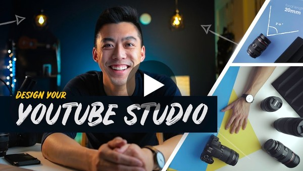 How to design a YouTube STUDIO // Camera Placement, Color Theory, Lighting, etc.