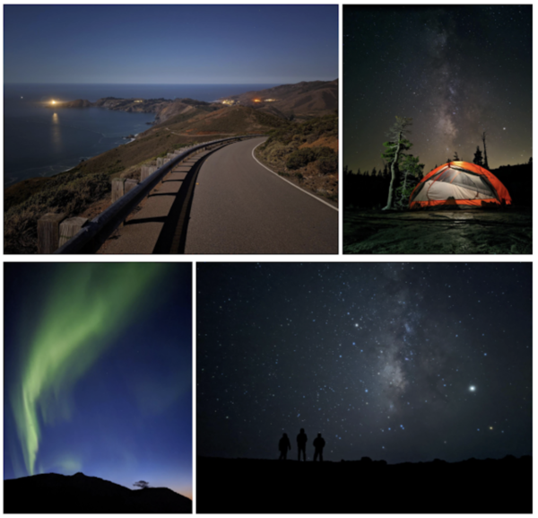 Examples of photos taken on a Google Pixel 4 phone with Night Sight enabled. (Google)
