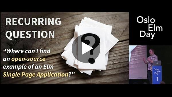 Richard Feldman - Exploring elm-spa-example