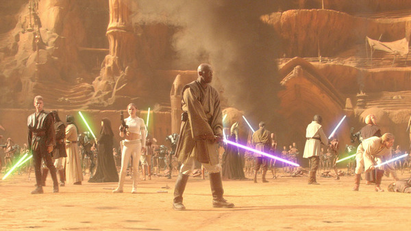 "Pictured: If you look closely at the hilt of Mace Windu's lightsaber, you'll find the words ""Bad Mother Fucker."""