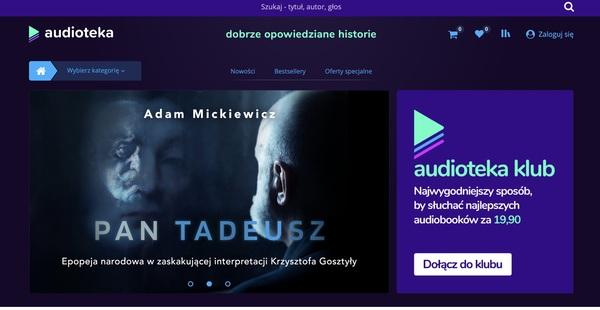 Audioteka to polska firma powstała w 2008 roku