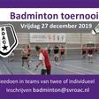 Derde Open ROAC Badminton toernooi