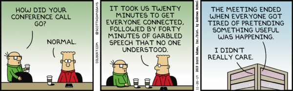 WebRTC conference calls. What could possibly go wrong?