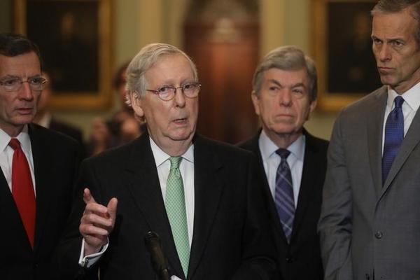 De Republikeinse Senaatsleider Mitch McConnell (foto: Reuters)