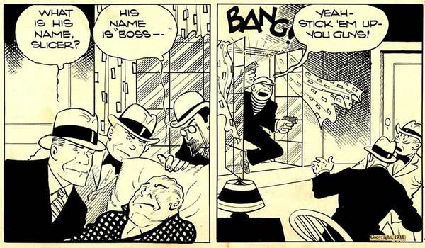 Chester Gould - Dick Tracy Original Comic Art