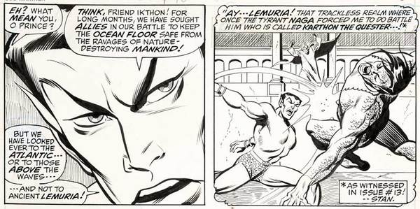 Sal Buscema - Namor Original Comic Art