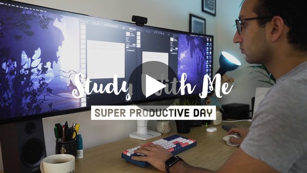 Study With Me - A Super Productive Day