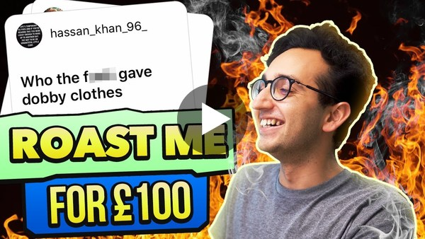 Roast me for £100 - Ali Abdaal