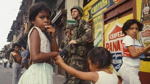 """""""The 'Operation Just Cause' left hundreds (or thousands) of people dead. This snapshot was taken on December 26, 1989."""""""