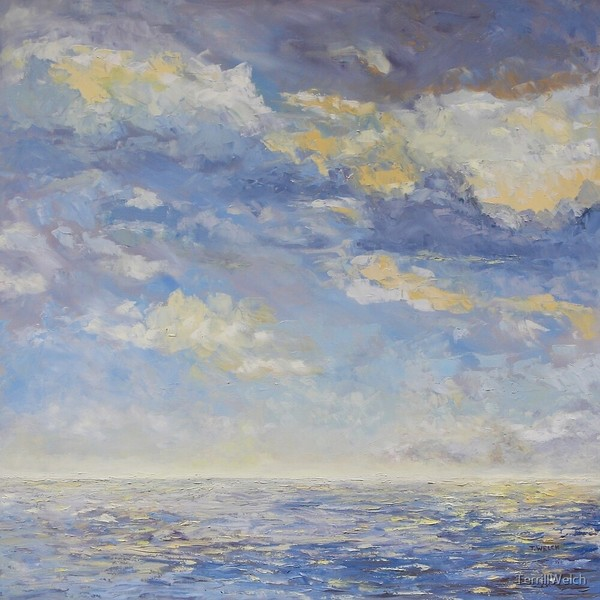 Sea and Clouds 36 x 36 inch oil on canvas by Terrill Welch