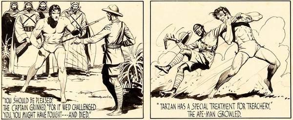 Burne Hogarth - Tarzan Original Comic Art