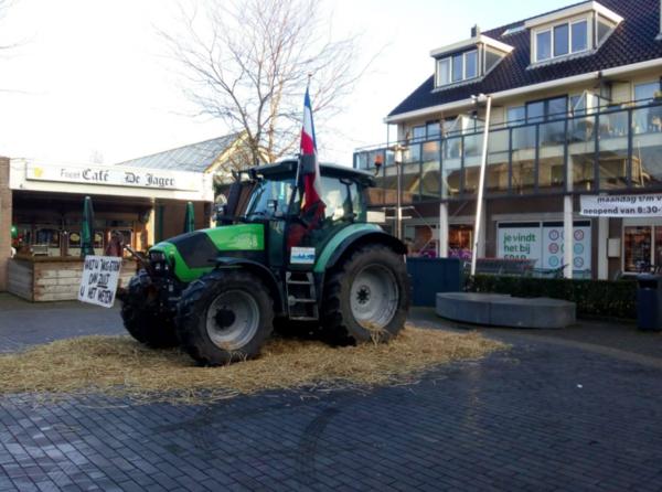 Boerenprotest bij Spar