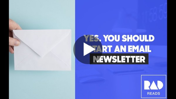How to launch an email newsletter [RadReads AMA]