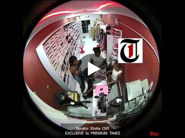 Nigerian senator caught on camera assaulting woman at sex toy shop