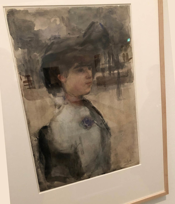 'Vrouwenportret' - aquarel: Isaac Israels (herkomst: coll. Stedelijk Museum Amsterdam)
