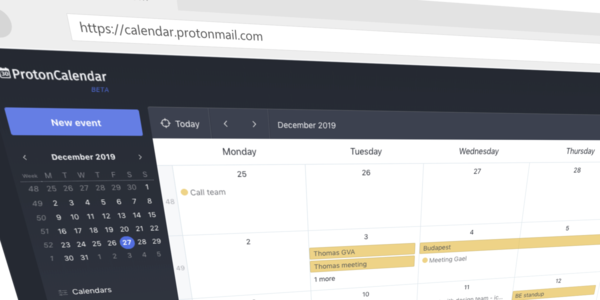 ProtonMail takes aim at Google with an encrypted calendar | VentureBeat