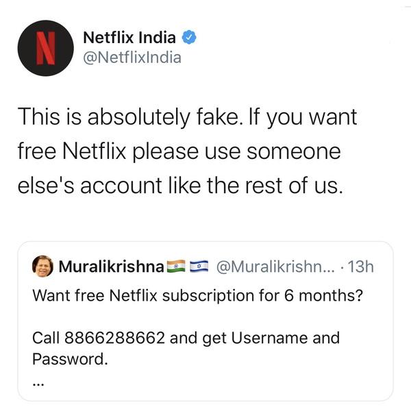 Netflix India gets it.